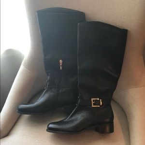 Never worn Banana Republic Black Leather Boots